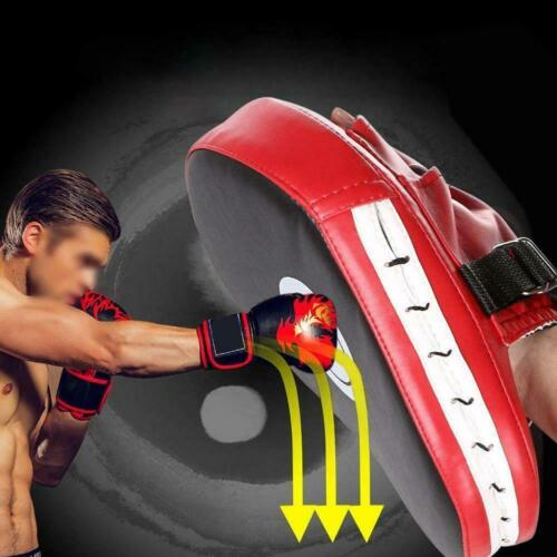 1PC PU Leather Kicking Palm Pad Strike Pads Target Glove Training Kick Boxi Z5Q4