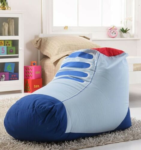 Boys Adults Blue Boot// Trainer Shaped Bean Bag Girls Kids