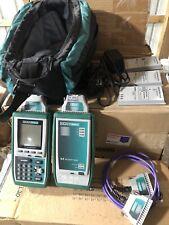 Fluke Microtest Omni Scanner Remote 5 Batteries 2 Mod 8 Charger Amp Bag Kit