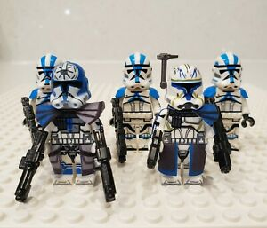 Star-Wars-Captain-Rex-Jesse-501st-Clone-Troopers-5-Minifigures-Lot-USA-SELLER