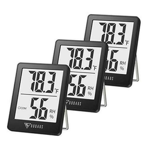 Indoor Thermometer Mini Digital Hygrometer Room Thermometer, 3 Pack