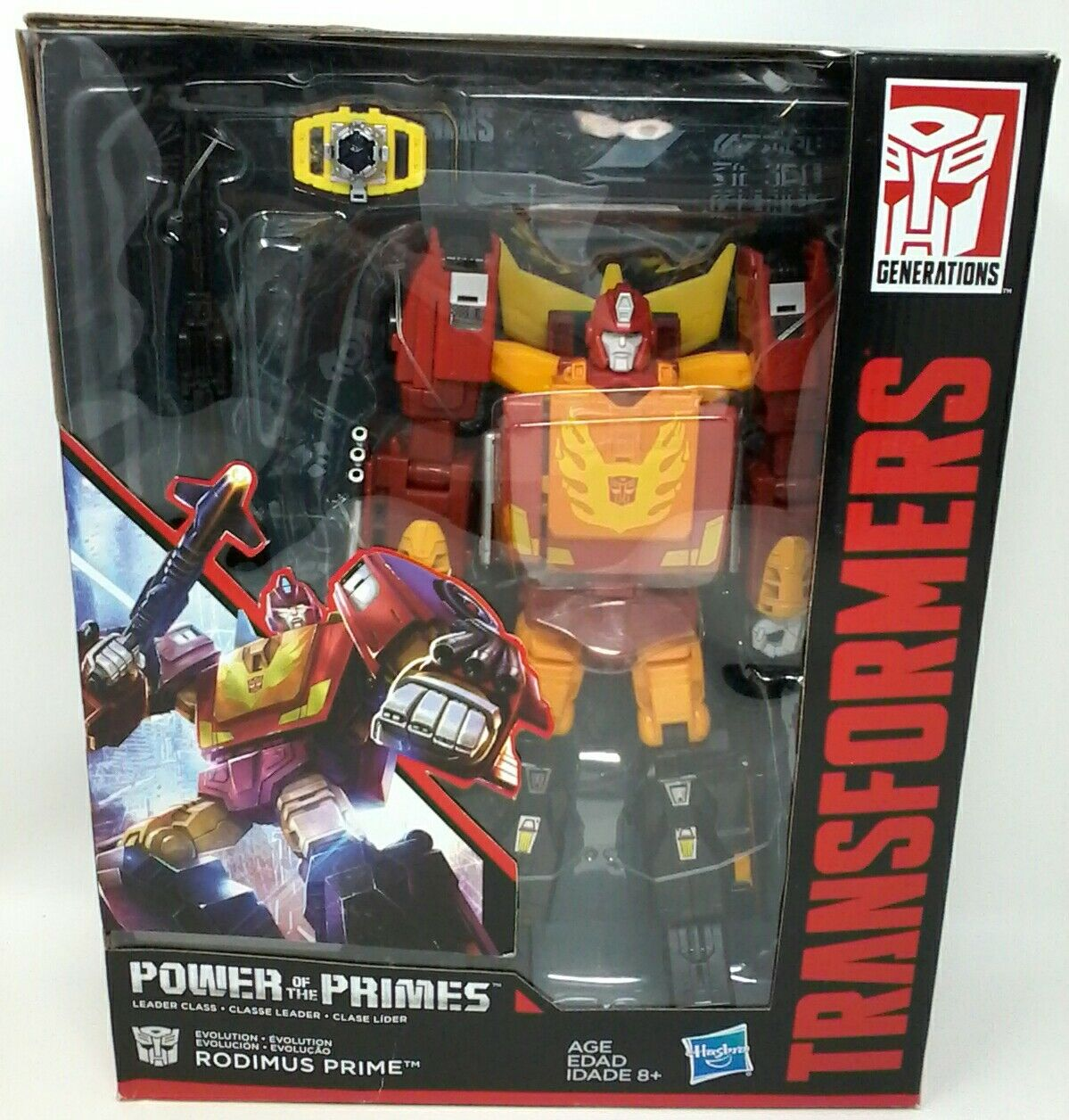 Transformers Generations Power of the Primes Leader Class Rodimus Prime