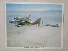 DOCUMENT NASA ESPACE SPACE SHUTTLE ORBITER BOEING 747 RECTO/VERSO