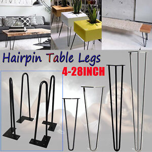 Swell Details About 4X Table Hairpin Legs Raw Steel 25Cm 71Cm Furniture Coffee Table Leg 2 Rod 3 Rod Interior Design Ideas Tzicisoteloinfo