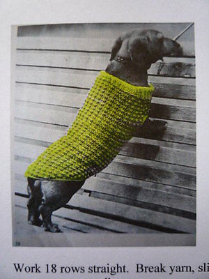 JUMPER / COAT  FOR DACHSHUND DOG 8 ply  - Knitting Pattern # 76