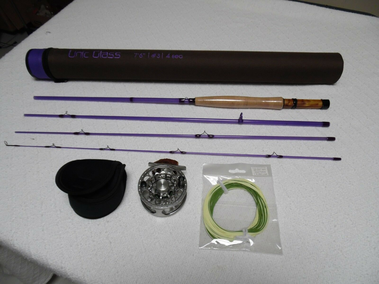 3 WT Fly Rod and Reel Combo 7'6