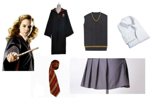 Harry Potter Cosplay Hermione Granger Costume Gryffindor School Uniform Outfit