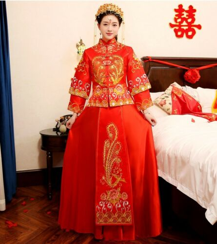 Chinese wedding dress QiPao Kua cheongsam 7c Many sizes available