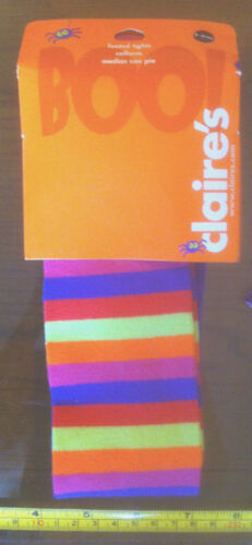 Bright Striped Tights Halloween Child 3-6yrs Claire/'s Claires Accessories £6 RRP