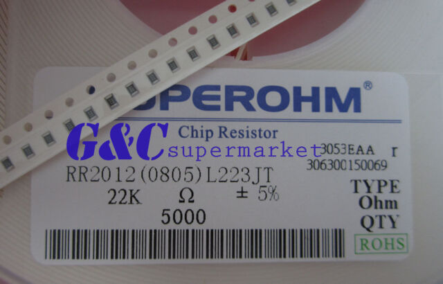 500PCS Resistor 22K Ohm  0805 SMD RoHS NEW GOOD QUALITY