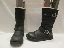 AUTHENTIC UGG AUSTRALIA KENSINGTON BIKER BOOTS UK 5.5 EU 38 (688)
