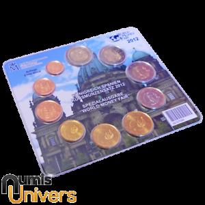 SÉRIE EURO BRILLANT UNIVERSEL (BU) - ESPAGNE 2012 WORLD MONEY FAIR