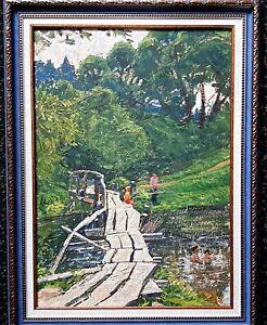 painting-Russian-landscape-impressionism-vintage-river-Shilov-Fishing-decor-art