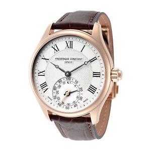 Frederique-Constant-FC-285MC5B4-Horological-Smartwatch-Men-039-s-42mm-Silver-Dial