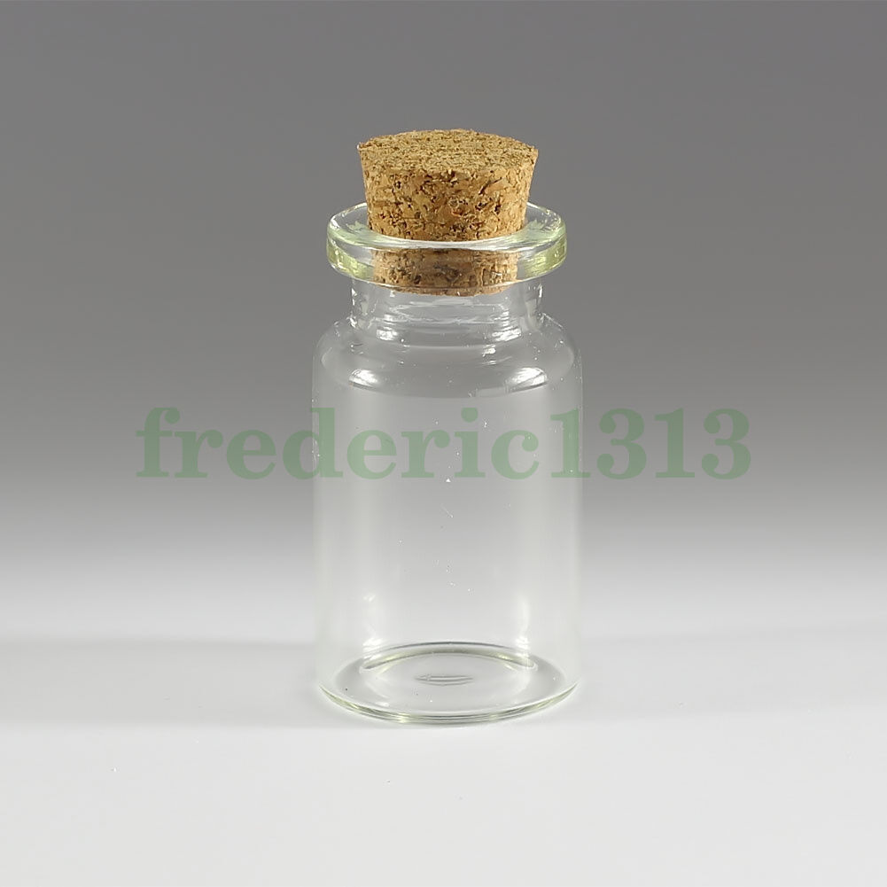 8.0ml 10Pcs Tiny Small Empty Clear Bottles Glass Vials 27x35mm With Screw Caps