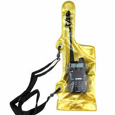 Waterproof Bag Case Pouch For ICOM Yaesu Kenwood Midland Wouxun KG-UVD1P KG-UV6D