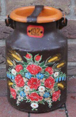 Verdellt Konstruktiv Kl H-29 Cm Milchkanne Blumenmalerei Metall 5 Liter 282-10146