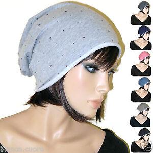 Caricamento dell immagine in corso Cappello-cotone -donna-punti-luce-borchiette-grigio-blu- 311ecb3bd1df
