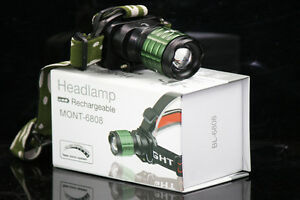 Torcia-Led-Frontale-Con-Zoom-Ricaricabile-MONT-6808-Alluminio-Impermeabile-hsb