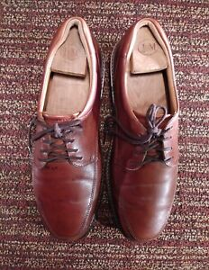 c7adb976f6 Details about ECCO Brown Mens Loafer Oxford Style Dress Shoes Balance Size  43 US 10.10.
