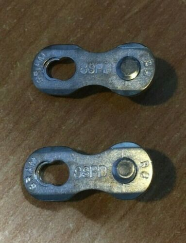 SRAM 8 Speed Chain PowerLock Silver Individual Power Link O//E Packed PC830
