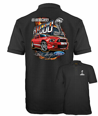 Velocitee Mens Long Sleeve T-Shirt Classic Shelby Ford Mustang Design A17929