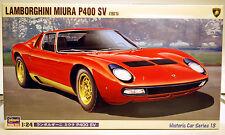 1971 Lamborghini Miura P 400 SV,1:24,Hasegawa 21213