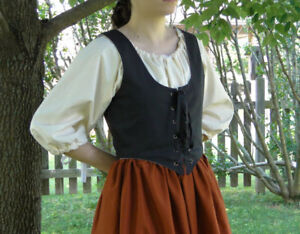 Halloween Cosplay Costume RENAISSANCE VICTORIAN MEDIEVAL PIRATE TOP WENCH BODICE