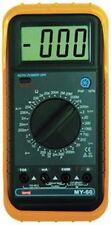 MY60 Digital Volt, Ohm, Milliamp Meter VOM - Handheld MultiMeter with Test Leads