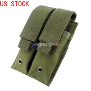 Molle-Double-Magazine-Pouch-Holster-Pistol-Mag-Holder-for-Tactical-Hunting
