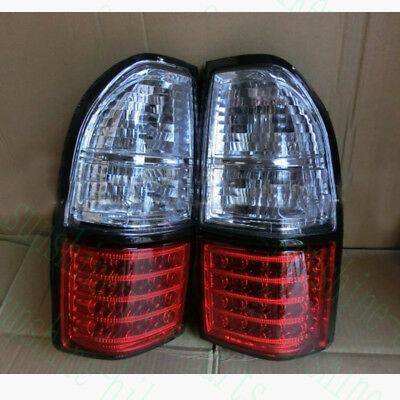 2pcs For Toyota Prado LC90 2700 3400 1998-2002 Black LH/&RH Rear LED Tail Lamps