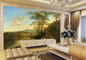 3D Sunset Green Trees 541 Paper Wall Print Wall Decal Wall Deco Indoor Murals