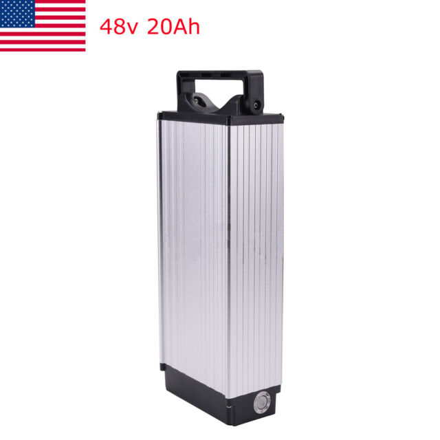 48V 20Ah 1000W Cell Rear Rack Carrier Li-ion Battery For E-bike Electric Bicycle