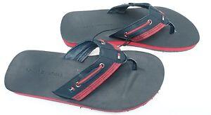 58f46357b TOMMY HILFIGER Men s Shoes Flip Flop Navy Blue Red Sundal Size 8 10 ...