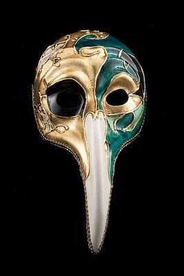 Máscara Turco De Venecia Al Largo Nariz Symphonia Verde Vg19 1517 Preparando Todo El Sistema Y FortaleciéNdolo