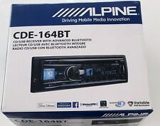 New Alpine CDE-164BT CD Car Radio Receiver with Bluetooth, USB, Front AUX Input