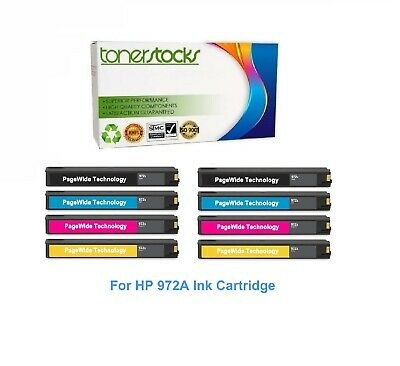 4PK 972A Ink Set For HP 972 PageWide Pro 377dn 377dw 452dw 477dw 552dw 577dw