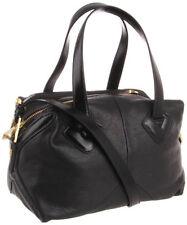 Pour la Victoire PLV Brice Medium Duffle BLACK Leather Satchel Purse $345 NWT