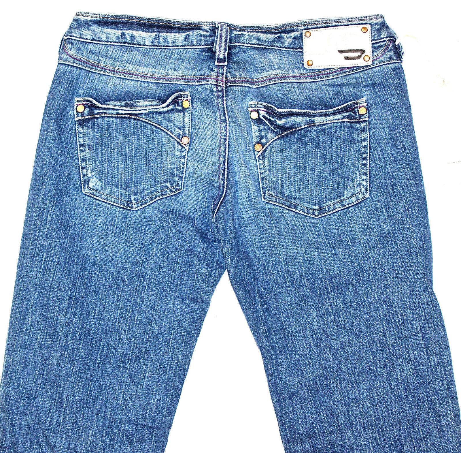 BNWT KYCUT 8BL Stretch DIESEL JEANS JEANS JEANS 27X32  AUTENTICA  Regular Fit Straight Leg 350f24