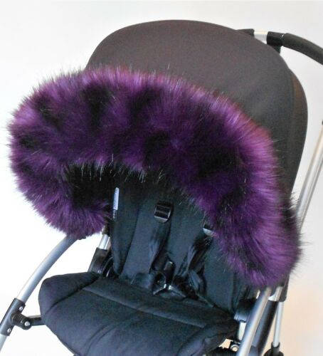 pram hood  universal fit compatible with Silver Cross Hood fur trim pushchair