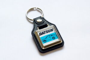 Datsun-Sunny-120Y-Coupe-Keyring-Leatherette-amp-Chrome-Classic-Car-Keyfob