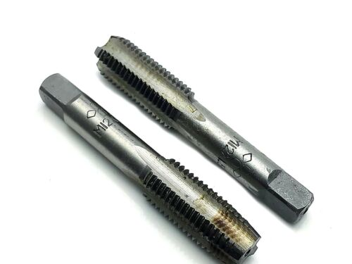 US Stock HSS 12mmx1.5 Metric Taper /& Plug Tap Right Hand Thread M12x1.5mm Pitch