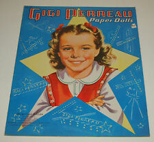 Vintage Saalfield 1951 Paper Dolls GIGI PERREAU Child Actress Uncut Complete