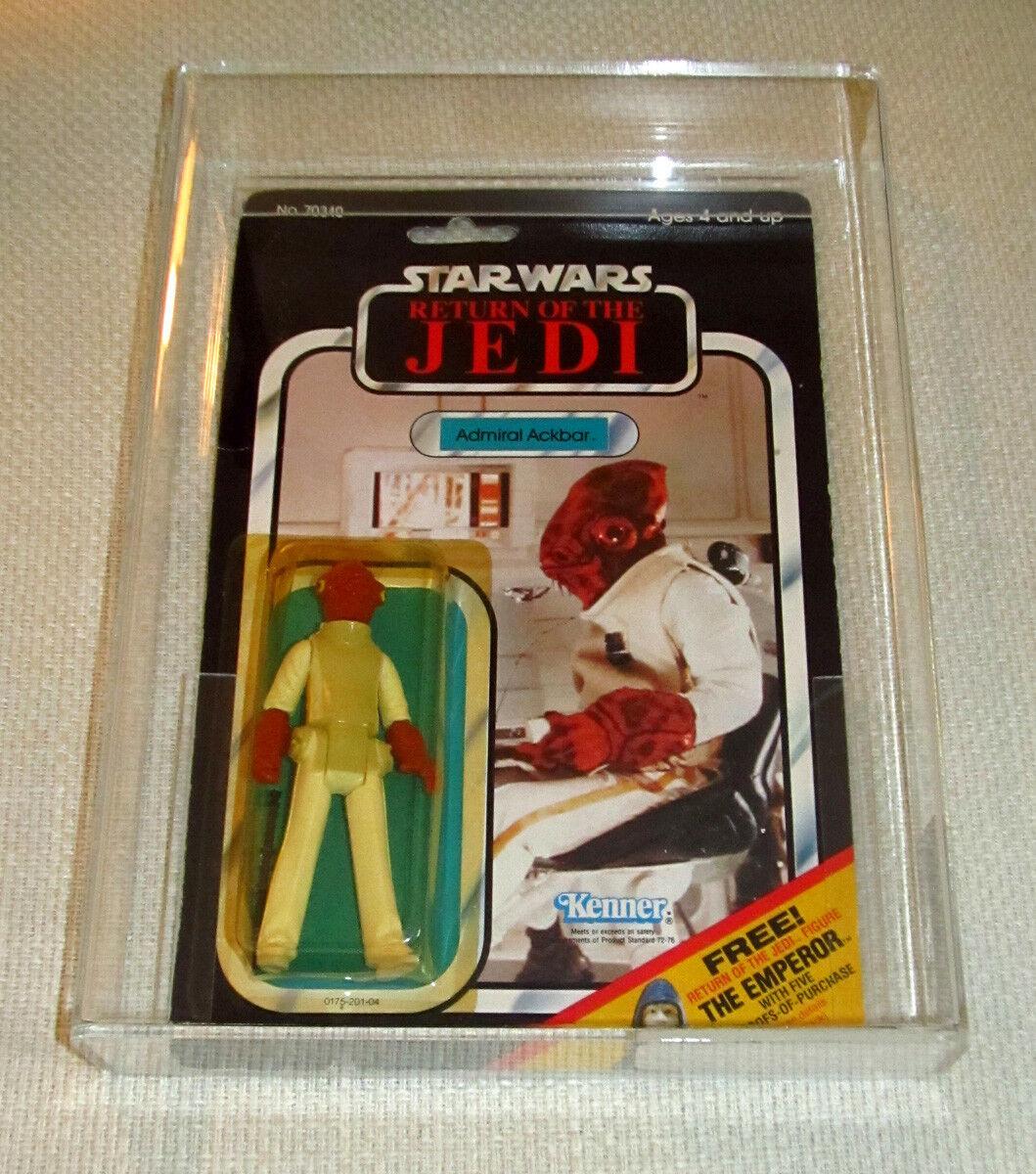 punto de venta Estrella Wars Admiral Ackbar  retorno de las Jedi Jedi Jedi  rojoj Kenner 1983 AFA 75  Tienda 2018