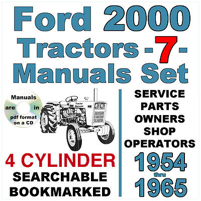 1964 ford 2000 tractor wiring diagram ford 2000 4 cylinder tractor service parts owners manual 7  tractor service parts owners manual