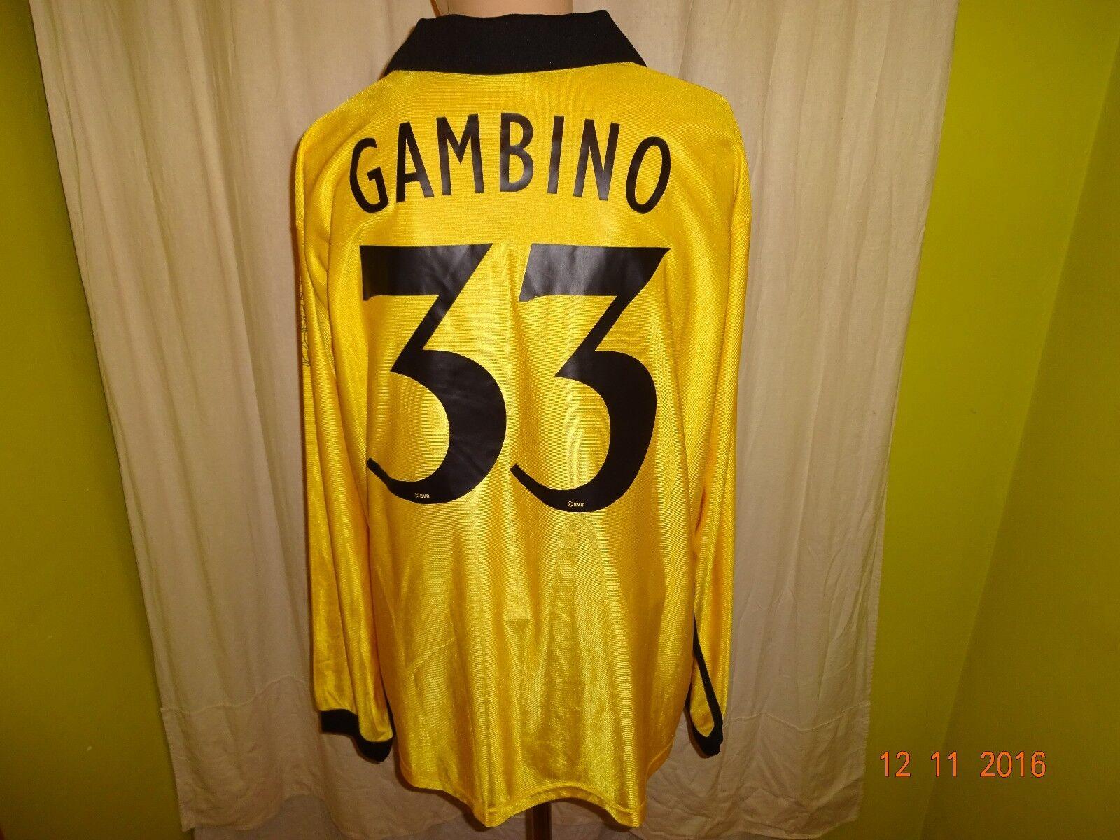 Borussia Dortmund Dortmund Borussia gool Langarm UEFA-CUP Trikot 2003/04 + Nr.33 Gambino Gr.XXL 40118d