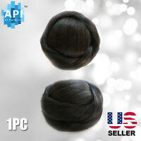 Hair Dome Bun Extension Pre-styled Synthetic Straight Pieces Bubble 05