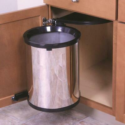 Kitchen Under Sink Trash Can In Cabinet Pivot Pull Out Lid