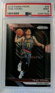 2018-19-Panini-Prizm-Trae-Young-Rookie-RC-78-Graded-PSA-9-Mint-Hawks