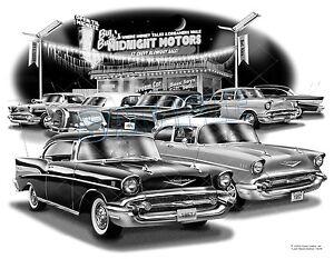 Chevy 57 Classic Car Auto Art Print 1504 Free Usa Shipping Ebay